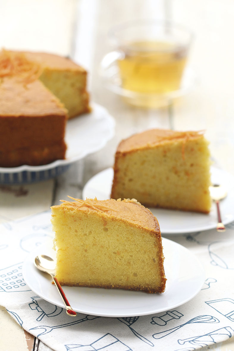 Orange Butter Cake with Carrot