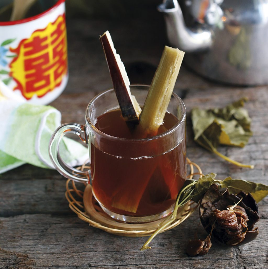 Mulberry Leaf Tea with Red Sugar Cane