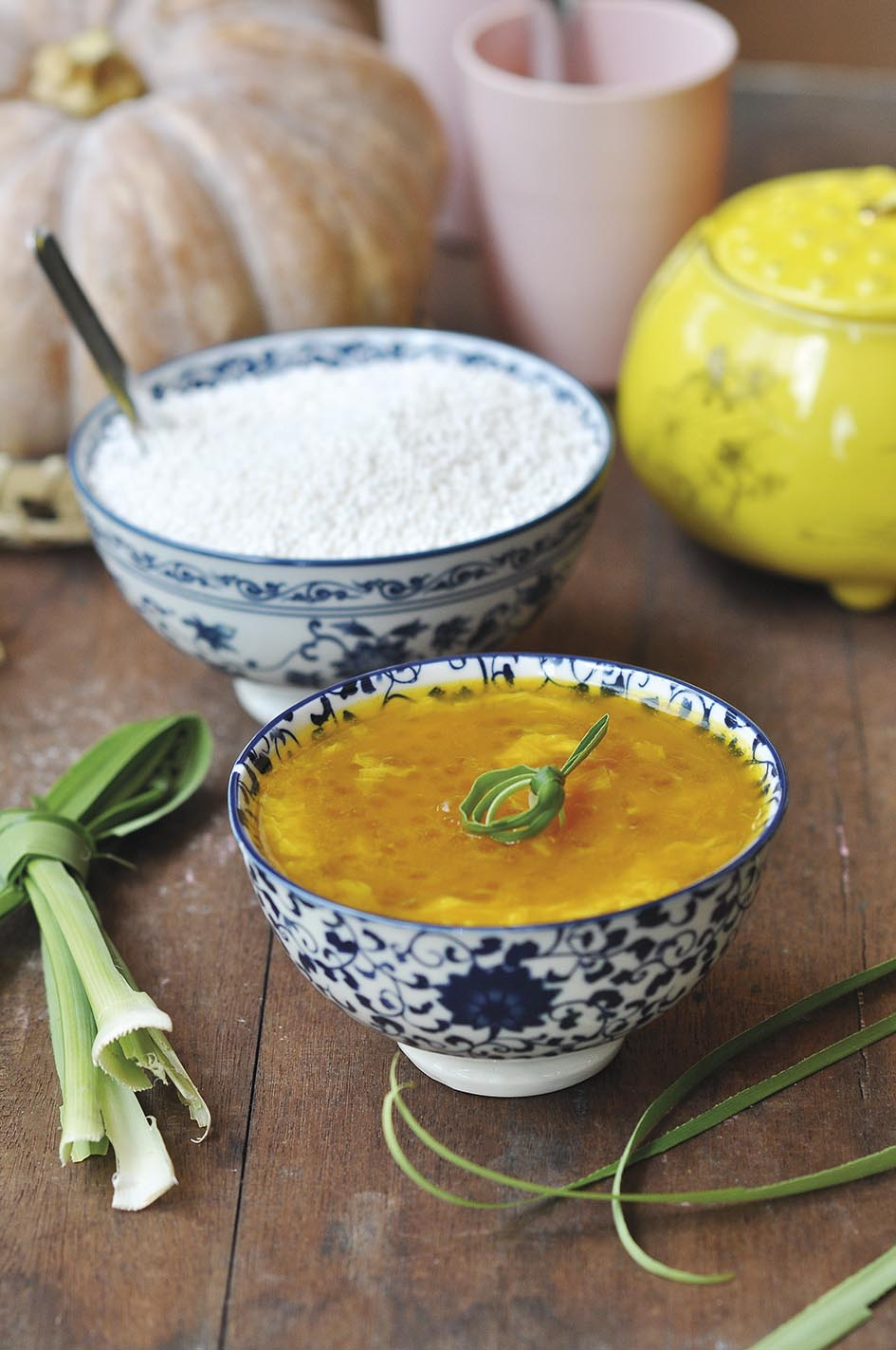 Pumpkin Sago Dessert with Egg