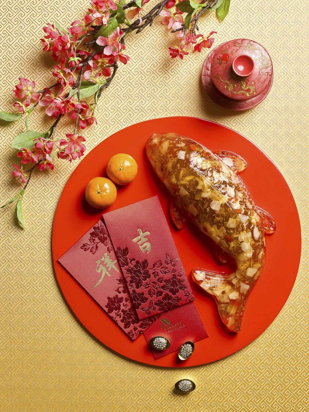 Osmanthus-Water Chestnut Koi Cake