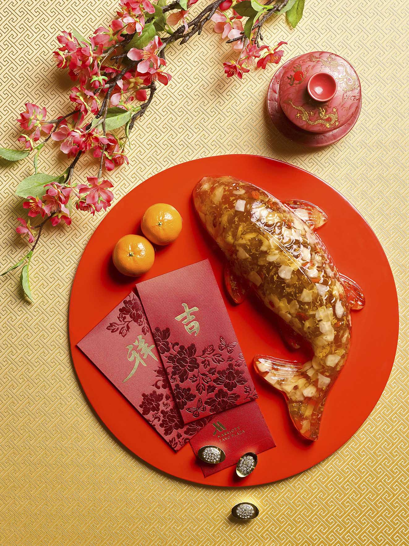 Osmanthus-Water Chestnut Koi Cake  — 锦鲤桂花马蹄糕