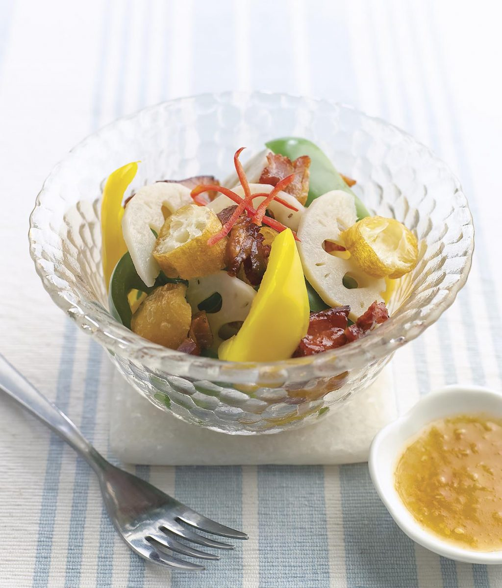 Tossed Char Siew & Lotus Root Salad